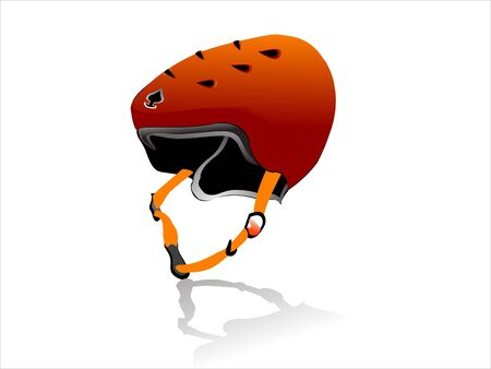 sport helmet on isolated background   photo