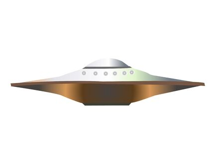 unidentified flying object on isolated background