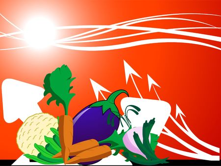 healty: healty vegetables on abstract background