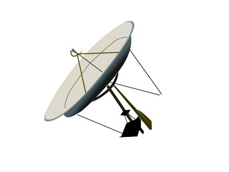 disk antenna on isolated background