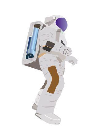 astronaut on isolated background