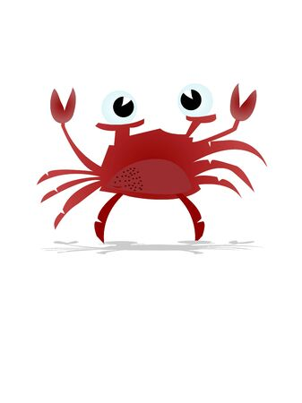 single crab on isolated background   Stok Fotoğraf