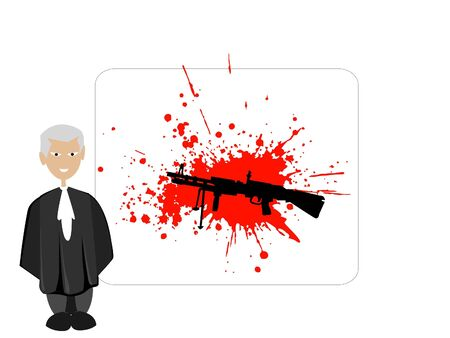 judge and sten gun with blood stains Stock Photo - 3307421