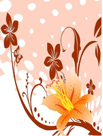 pretty flowers on circular background   photo