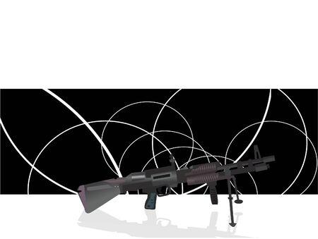 sten gun  on swirly background Stock Photo - 3307410