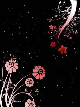 sparkled: flowers on sparkled background   Stock Photo
