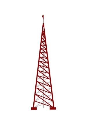 tower antenna on isolated background