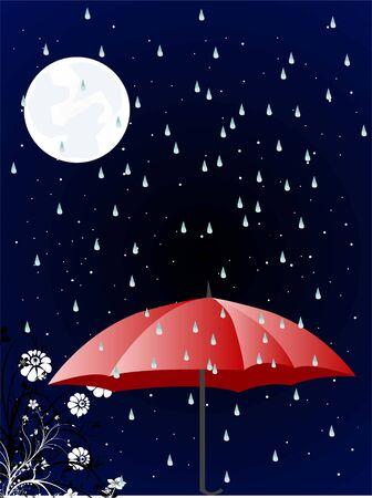 rainy season: rainy season at night     Stock Photo