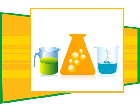 chemical liquid in vessels on isolated background