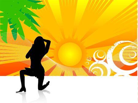 Vrouw uitoefenen in zonlicht Stockfoto - 3316422