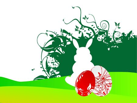 easter bunny on natural background   photo