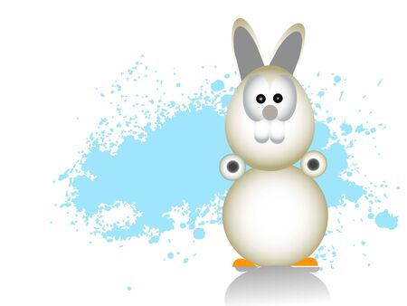 easter bunny on grunge background     photo