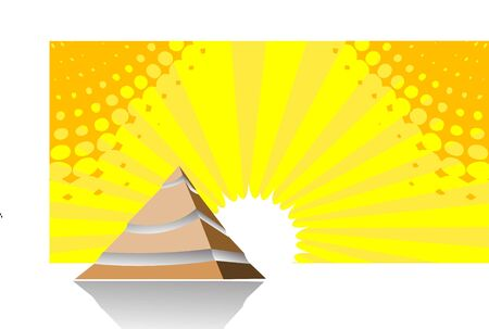 pyramid peak: pyramid on sunburst background