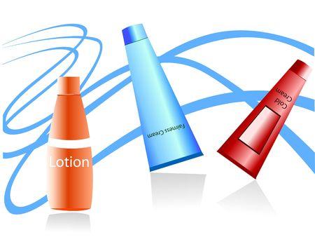 fairness lotion fles op swirly achtergrond