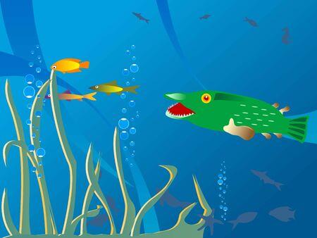 onderwaterleven met fauna