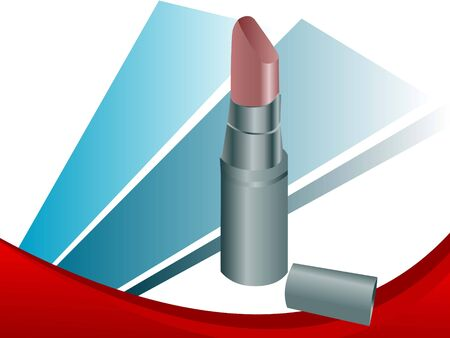 lipstick on abstract background   photo