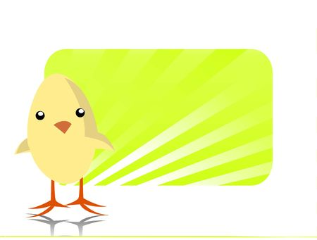 chick: easter chick on text-template