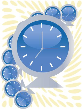alarm clock on abstract background