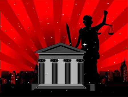 Rechtvaardigheid dame in de buurt van Hof   Stockfoto - 3316372