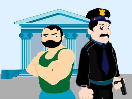 politie en dief buurt rechter