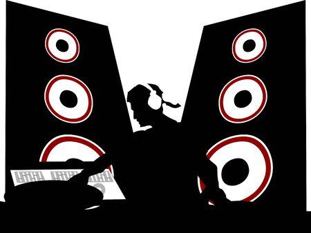 muziek en disco op geïsoleerde achtergrond     Stockfoto
