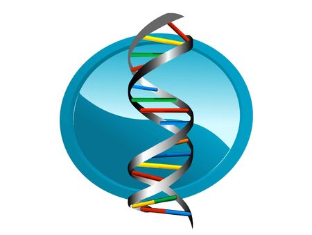 dna structure in circular isolated background   photo