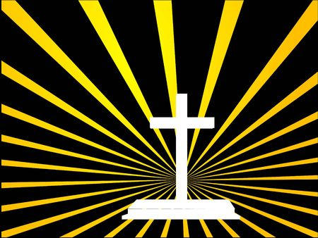 cross with yellow strips photo