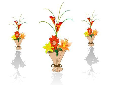 boeket bloemen op zichzelf staande achtergrond