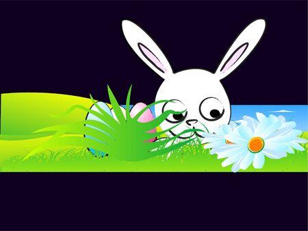 Pasen bunny op natuurlijke achtergrond