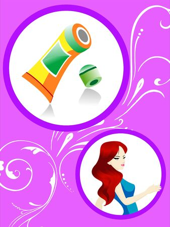 fairness tube and lady in circular design
