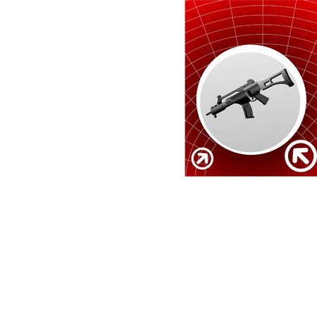 sten gun in circular design