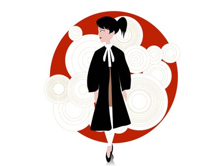 lady lawyer on circular background