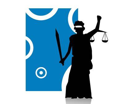 Rechtvaardigheid dame op abstracte achtergrond Stockfoto - 3315950