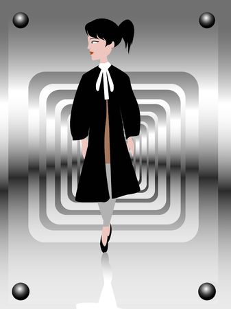 female lawyer on gradient background
