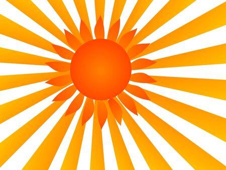 schijnt de zon op sunburst achtergrond