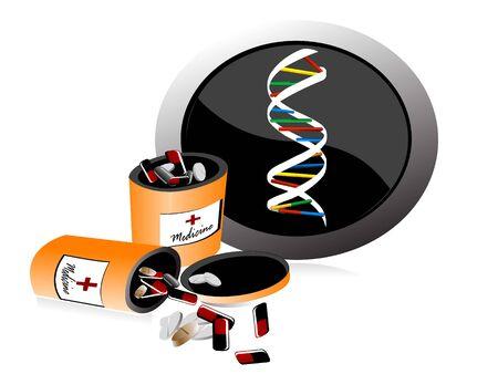 medische pillen met DNA-teken