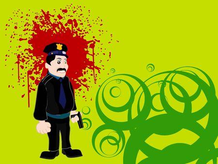 policeman on grunge nd swirlsw
