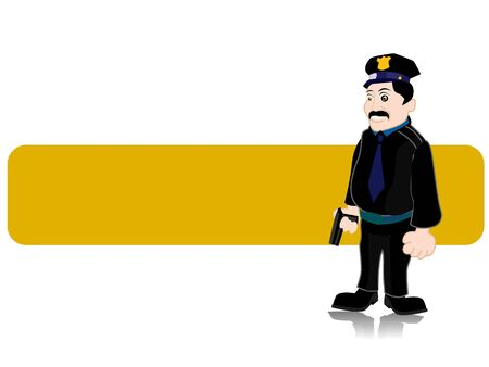 police inspector on abstract background