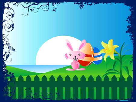 easter bunny on natural background