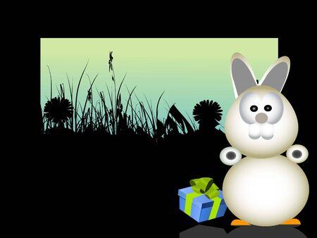 Easter Bunny op natuurlijke achtergrond