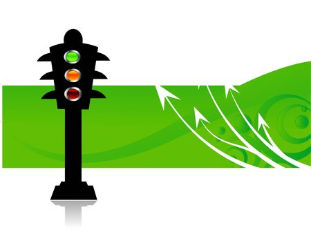 traffic pole: traffic signal pole on abstract background