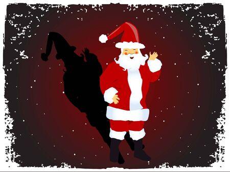 Santa claus op gestippelde achtergrond