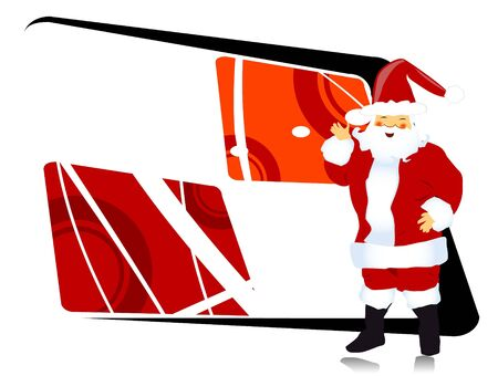 Santa claus op abstracte achtergrond