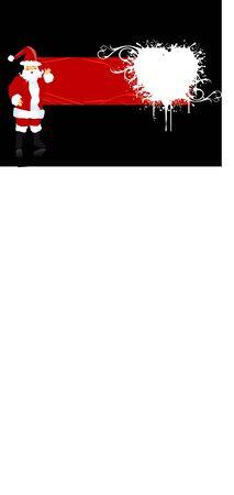 santa claus  on dark background