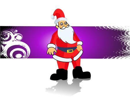Santa Claus op verloop swirly achtergrond Stockfoto