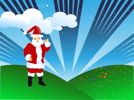 santa claus on natural background