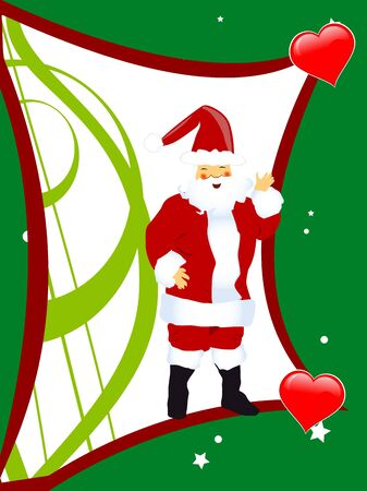 santa claus on abstract background