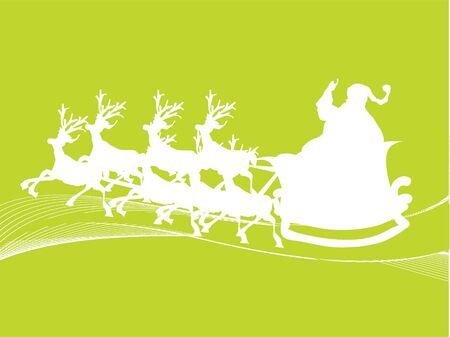 Kerst man op rendieren kar