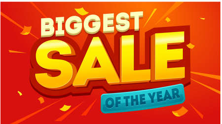 Biggest sale banner. Sale and discounts. Biggest sale, great design for any purposes.Banner sale poster. Vector illustration Ilustracja