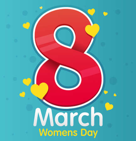 8 march - womens day. Vector greeting card. Gift for 8 March.